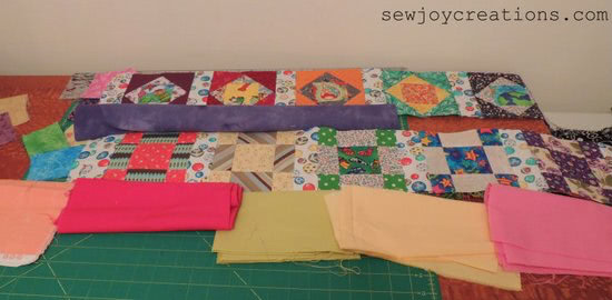 auditioning solids for baby quilt