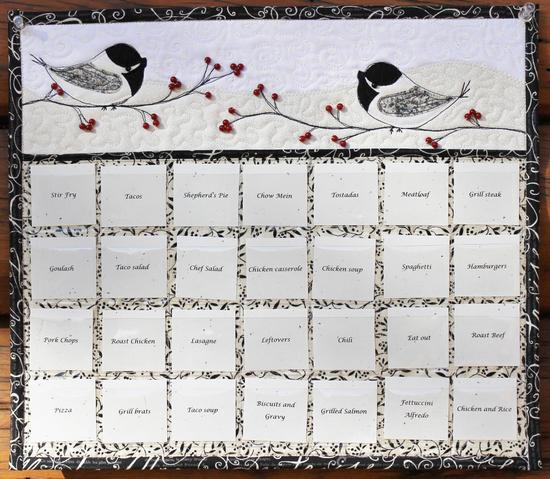 winter chickadees menu planner