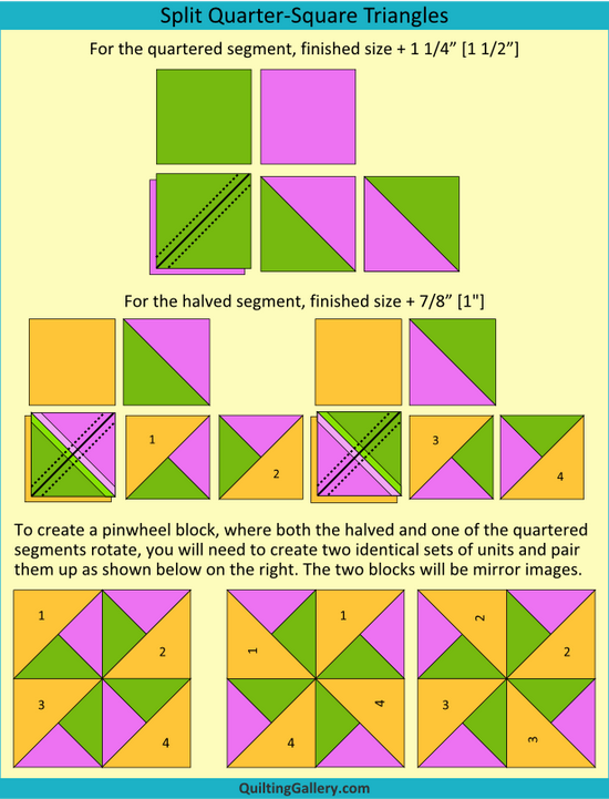 Quilt Patterns Quarter Square Triangles : DS QAL: Creating Triangle and Flying Geese Units - Quilting Gallery /Quilting Gallery