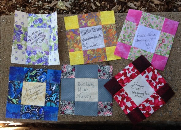 Quilt blocks received 2015-06-19