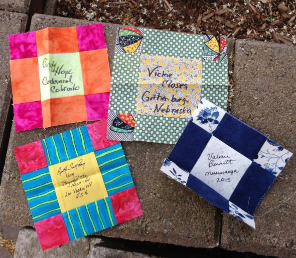 Quilt blocks received 2015-06-23