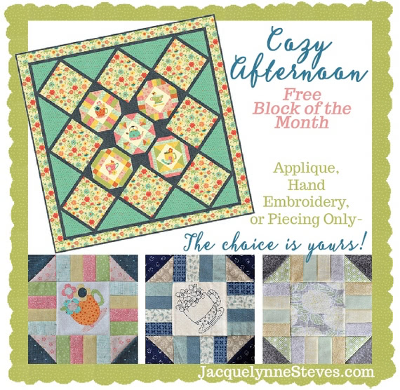 Cozy Afternoon Free Block of the Month