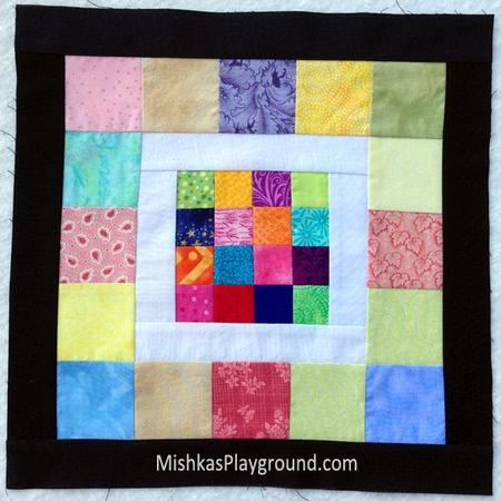 Scrappy 16 quilt block