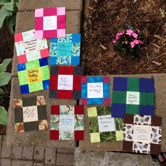 quilt-along participant blocks