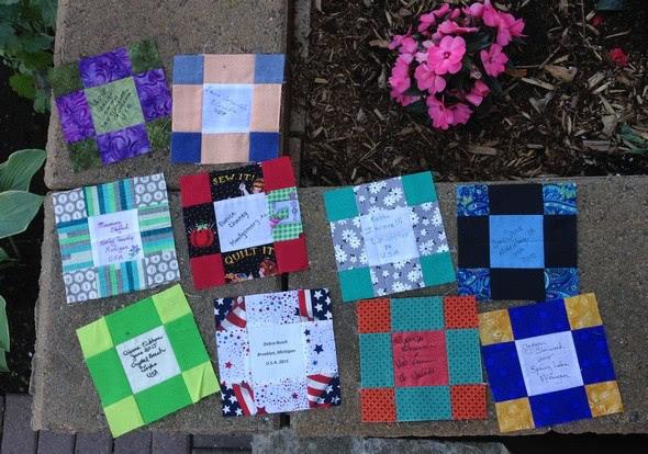 quilt-along participant blocks