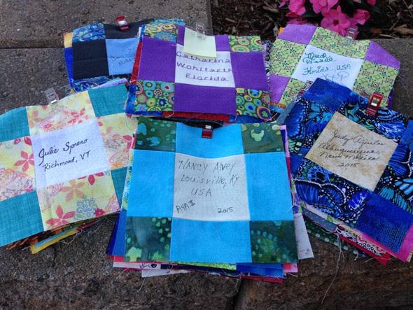 68 quilt-along participant blocks