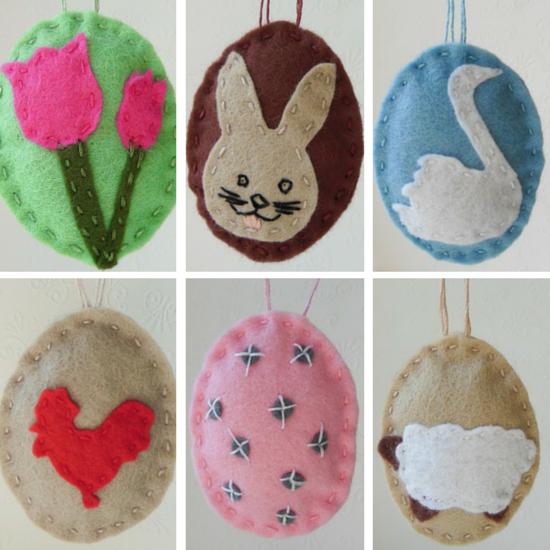 Easter Egg Felt Ornaments