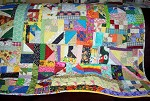 Crazy Pieced Quilt