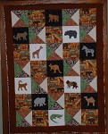 Jungle Animals Scrap Quilt