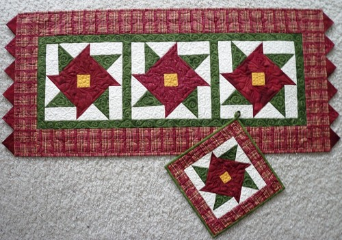 Christmas Table Runners Quilting Gallery