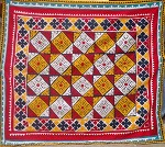 Maya - Traditional handmade applique ralli quilt