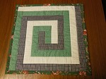 Greek Key Log Cabin Quilt