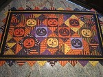 Jack O' Lantern table runner