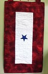 blue star service banner window quilt