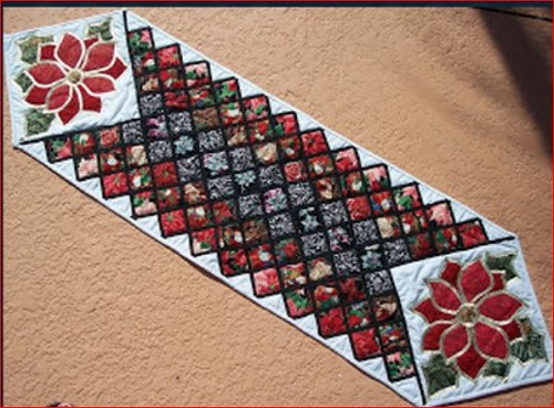 christmas table runner anita amodeo