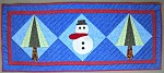 Frosty Quilted Table Runner