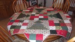 Christmas Patch Tree Skirt/Quilt