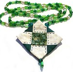 Green Mountain Peak Quilted Necklace