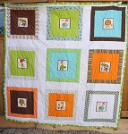 D's Square Animals Quilt