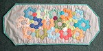 Scrap Flower Garden Table Runner