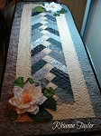 Table Runner with Water Lilies