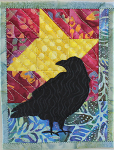 Raven Star quilted greeting card