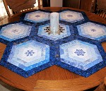 Blue Snowflakes Table Topper