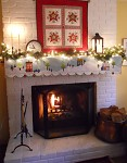 Snowy Christmas Mantle Quilt