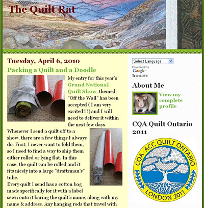 Shout Out Thursday:  The Quilt Rat