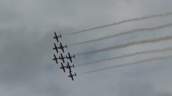 Snowbirds Pre-Canada Day Flyby over Ottawa