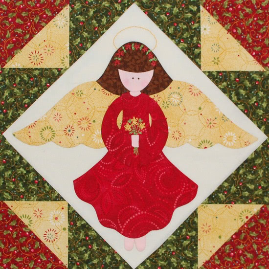 Quilt Along Block 12 Christmas Angel Quilting Gallery