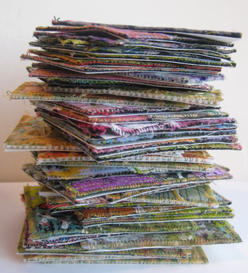 Fabric Collaged Artist Trading Cards Atcs A Tutorial