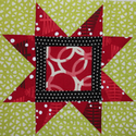 Victoria's Sawtooth Star Squared Block
