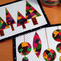 Patchwork Christmas Mug Rugs and a Give-Away