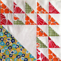 My First Two Aurifil Designer of the Month Blocks