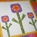 New Pattern: Quilters' Flowers Mini Quilt